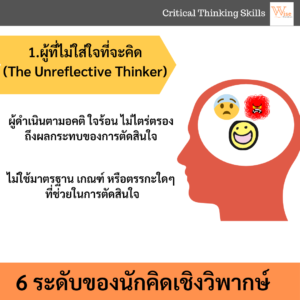 6 ระดับนักคิดเชิงวิพากษ์